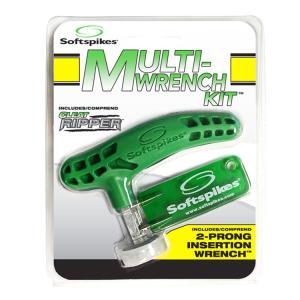 【即納】 ソフトスパイク Soft spikes マルチ レンチ キット 2ピン型レンチ付 クリートリッパー スパイクレンチ (Multi-Wrench Kit) US純正品 SSCRKF|golfhands
