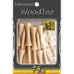 ゴルフ ティー ライト T-473 Tokumori ウッドティー段付75mm (12本入) T-473|golfhands