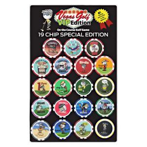 ゴルフ ボールマーカー ベガスゴルフ カジノチップマーカー VIPエディション 19個入(Vegas Golf VIP Edition) VG1900 golfhands