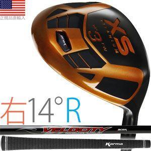 ゴルフ 完成品 クラブ フェアウェイ エーサー XS チタニウム フェアウェイ (右打用/#3:ロフト角14°/シャフトフレックスR) XSTF-R14R golfhands