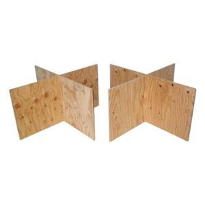 (木芸社)コンパネ作業台(針葉樹合板製)H450mm X脚2組セット 組立て式簡易馬・ペケ台