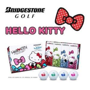 BRIDGESTONE GOLF ブリヂストン ゴルフ ハローキティ LADY レディー ゴルフボール 1ダース(12球)2015モデル|golfolympic