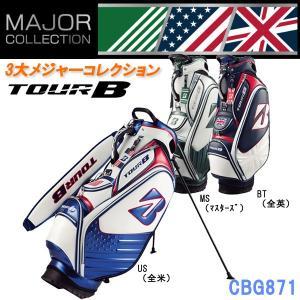 2018年限定モデル BRIDGESTONE GOLF ブリヂストンゴルフ メジャーコレクション スタンドキャディバッグ MS US BT マスターズ 全米 全英 CBG871|golfolympic