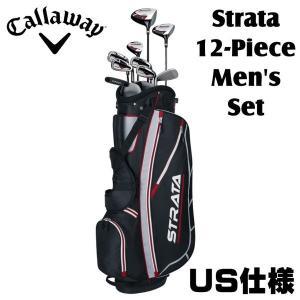 キャロウェイ ストラータ メンズ クラブセット 12点セット 9本組+キャディバッグ US仕様 初心者向き 右用|golfolympic
