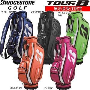 【17年モデル】【展示会受注限定】ブリヂストンゴルフ キャディバッグ プロレプリカ 総エナメルモデル CBG8GR (Men's) BRIDGESTONE GOLF|golfolympic