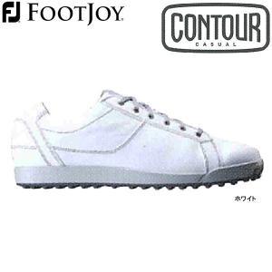 【17年モデル】フットジョイ スパイクレス ゴルフシューズ コンツアーカジュアル (Men's) 54045 (ホワイト) 横幅(ウィズ)/W FOOTJOY CONTOUR CASUAL golfolympic