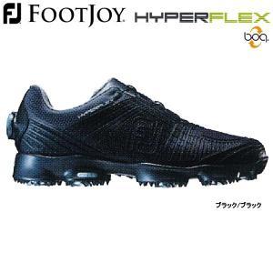 【17年モデル】フットジョイ メンズ ゴルフシューズ ハイパーフレックス2 ボア (Men's) 51066 (ブラック/ブラック) FOOTJOY 横幅(ウィズ)/W(2E)|golfolympic