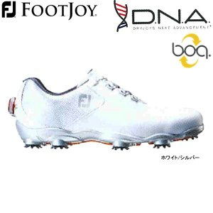 【17年モデル】フットジョイ メンズ ゴルフシューズ ディー・エヌ・エー ボア (Men's) 53330 (ホワイト/シルバー) FOOTJOY 横幅(ウィズ)/W New DNA Boa|golfolympic