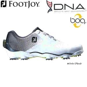 【17年モデル】フットジョイ メンズ ゴルフシューズ ディー・エヌ・エー ボア (Men's) 53332 (ホワイト/ブラック) FOOTJOY 横幅(ウィズ)/W New DNA Boa golfolympic