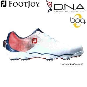 【17年モデル】フットジョイ メンズ ゴルフシューズ ディー・エヌ・エー ボア (Men's) 53331 (ホワイト/ネイビー/レッド) FOOTJOY 横幅(ウィズ)/W New DNA Boa golfolympic