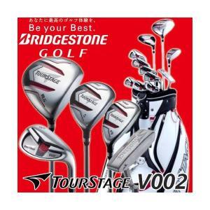 国内正規品 ブリヂストンゴルフ ツアーステージ V002 クラブセット(11本組+キャディバッグ) BRIDGESTONE GOLF TOURSTAGE|golfolympic