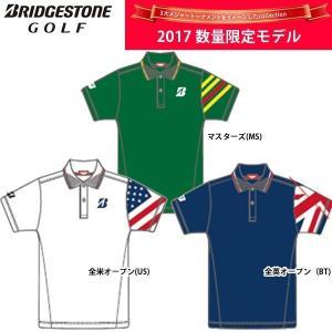 2017SS限定 ブリヂストンゴルフ メンズ 3大メジャーイメージ ポロシャツ 半袖シャツ 3GFT1A Men's BRIDGESTONE GOLF|golfolympic