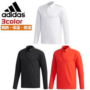 アディダス ゴルフ メンズ 長袖シャツ 長袖ポロシャツ 発熱 保温 排水 クライマヒート adidas FKI53