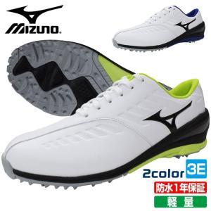 ミズノ MIZUNO ゴルフ メンズ シューズ 軽量 防水 スパイクレス 紐タイプ  51GR199...