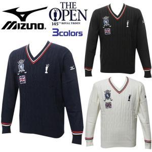 ミズノ MIZUNO ゴルフ ウェア メンズ Vネック セーター The Open 全英オープン 大...