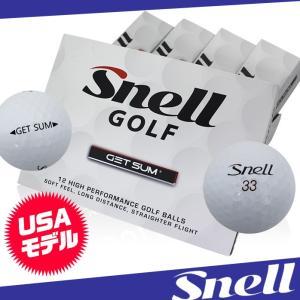 有名ボール製作者 渾身のディスタンスボール スネルボール GET SUM サリソンカバー 2ピース 1ダース12球入り 低価格でも高性能を実現 snell ゲットサム US