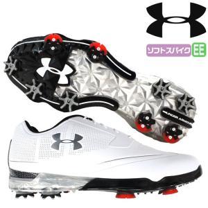 アンダーアーマー UNDER ARMOUR ゴルフ ゴルフシューズ ソフトスパイク UA TOUR TIPS X-WIDE 人工皮革 合成樹脂 1299227