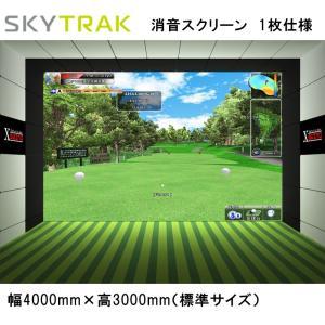 スカイトラック ゴルフ SkyTrak 消音スクリーン 1枚仕様 日本正規品