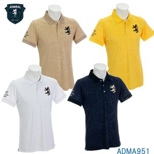 【即納】アドミラル ADMA951 フラワーエンボス 襟メッシュ ポロシャツ 日本正規品|golfshop-champ