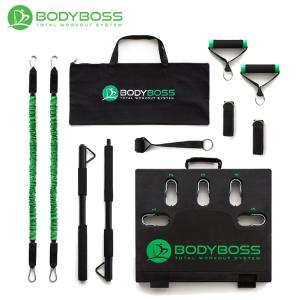 ボディボス BODYBOSS 2.0 ポータブルフィットネス 室内 ワークアウト 筋トレ器具 国内正規品 グリーン|golfshop-champ