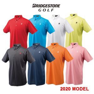 【2020年モデル】BRIDGESTONE GOLF ブリヂストンゴルフ 半袖 ボタンダウンシャツ POLO メンズ 日本製 50G02A|golfshop-champ