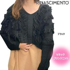 (セール)リナシメント Vネックフリンジニット rinascimento 【RIN09336W】(ファッション) ゴルフギアサージ