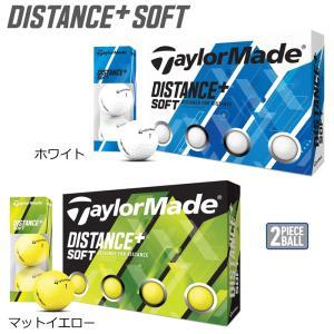 【日本正規品】テーラーメイド ディスタンス+ ソフト ゴルフボール 1ダース【12球】