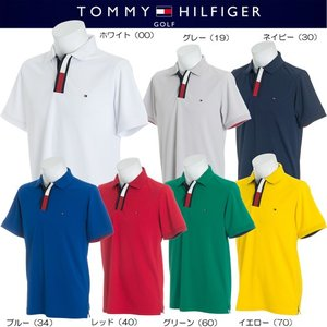 TOMMY HILFIGER GOLF FRONT FACING FLAG POLO SHIRT