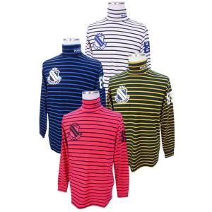 【NEW】PEARLY GATES パーリーゲイツ メンズ ベア天竺サーモギアボーダーモックシャツ =JAPAN MADE= 053-8166103/17D|golfwaveonline2