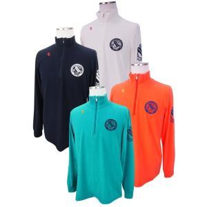 【NEW】PEARLY GATES パーリーゲイツ メンズ プレミアウォームハーフジップシャツ =JAPAN MADE= 053-8166107/17D|golfwaveonline2