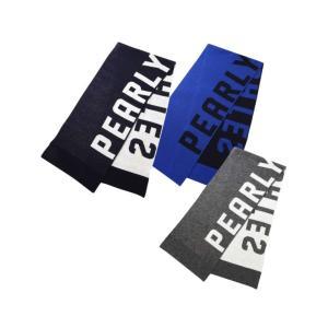 □名称:パーリーゲイツマフラー【正規品】  □カラー ネイビー(ロゴ/裏側:オフホワイト)  ブルー...