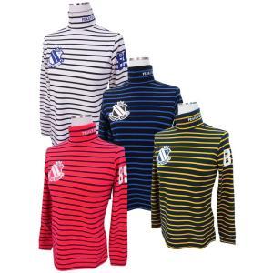 【NEW】PEARLY GATES パーリーゲイツ ベア天竺サーモギアボーダーモックシャツ =JAPAN MADE= 055-8166104/17D|golfwaveonline2