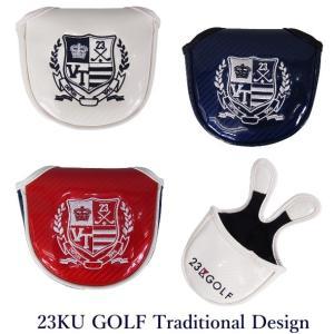【PREMIUM SALE】23区ゴルフ ツアートラディショナル・マグネット式大型マレットパターカバ...