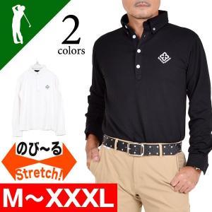 ポロシャツ ゴルフ メンズ   ゴルフウェア 大きいサイズ 長袖 ゴルフウエア 秋冬 2016 4CC-LP5206|golfwear