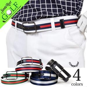 ベルトメンズゴルフ ライン 配色 PUゴルフベルト小物グッズ  ラインテープゴルフベルト IF-BT1604|golfwear