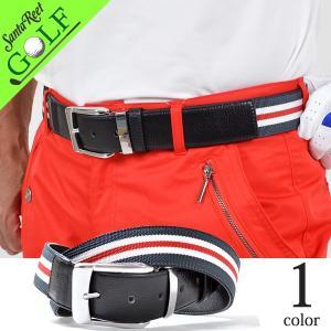 ゴルフウェア ゴルフベルト メンズ PU 合成皮革 サイズ調整可能 おおきいサイズ ライン入りPUゴルフベルト 大人 2017 if-bt1718|golfwear
