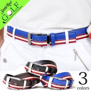 ゴルフウェア ゴルフベルト メンズ PU 合成皮革 サイズ調整可能 おおきいサイズ ラインデザインPUゴルフベルト 大人 2017 if-bt1719|golfwear