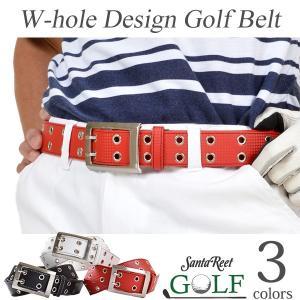ベルトメンズゴルフグッズサイズ調整可小物アクセサリーWホールカーボン調PUゴルフベルト TW-GF018|golfwear