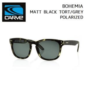 サングラス CARVE BOHEMIA MATT BLACK TORT/GREY POLARIZED カーブ ボヘミア 偏光レンズ SUNGLASS|golgoda