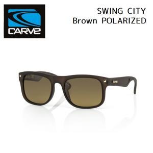 サングラス CARVE SWING CITY Brown POLARIZED カーブ スウィングシティ 偏光レンズ SUNGLASS|golgoda