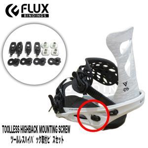 【スペアーパーツ】FLUX ツールレスハイバック取付ビスセット フラックス 部品 Toolless ...