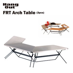 折りたたみ 台形テーブル HANG OUT アーチテーブル/ステンレストップ(FRT-7030ST) ハングアウト キャンプ アウトドア golgoda
