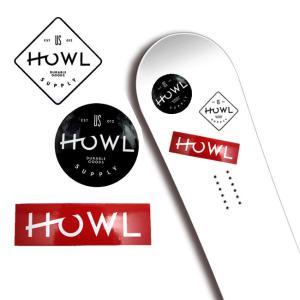 ステッカー HOWL ハウル STICKER スノーボード用グローブ ミット ミトン メール便対応可|golgoda