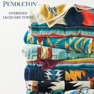 ペンドルトン PENDLETON ジャガード バスタオル オーバーサイズ スパ ブランケット 綿毛布 タオルケット ヨガ アウトドア Oversized Jacquard Towels XB233 ペン