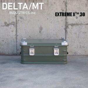 アルミ コンテナボックス DELTA / MT Extreme X 30 / ダークグリーン キャンプ アウトドア インテリア 収納|golgoda