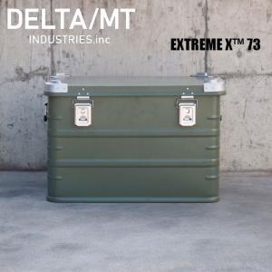 アルミ コンテナボックス DELTA / MT Extreme X 73 / ダークグリーン キャンプ アウトドア インテリア 収納 golgoda