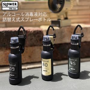 アルコール対応 携帯用消毒液スプレーボトル 50ml容器 SLOWER PUMP SPRAY BOTTLE Mistral ボトル 詰め替え 除菌剤|golgoda