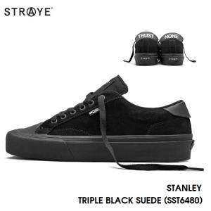 ストレイ スニーカー STRAYE STANLEY / TRIPLE BLACK SUEDE(SST6480) スケート シューズ golgoda