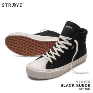 ストレイ スニーカー STRAYE VENICE /  BLACK SUEDE (SVN4525) スケート シューズ golgoda