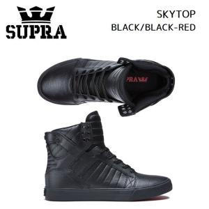 スープラ  SUPRA SKYTOP BLACK/BLACK-RED (08003-081) 2020/SS スニーカー スケート golgoda